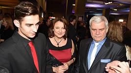 Zlata Adamovská s manželem Petrem Štěpánkem a synem Petrem