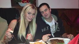 Eva Feuereislová s bývalým přítelem Lukášem loni na silvestra.