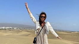 Tereza Budková je na dovolené na Kanárech.