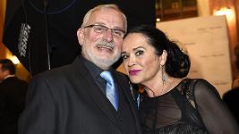 Hana Gregorová a Miloslav Mejzlík tvořili na plese pár.