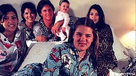 Rodinný klan Kardashian-Jenner na snímku z roku 1996