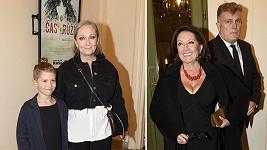 Bára Basiková ukázala na premiéře muzikálu Holmes syna, Marie Rottrová zase obří dekolt.