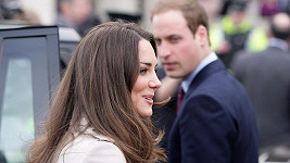 Princ William s Kate Middletonovou týden před svatbou