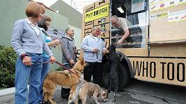 Pojízdný psí zmrzlinář.