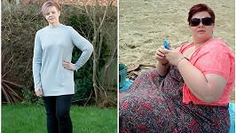 Laura Raines (42) z Velké Británie zhubla za rok 76 kilogramů