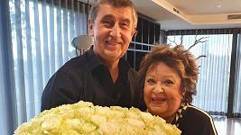 Andrej Babiš a Jiřina Bohdalová