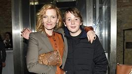 Aňa Geislerová se synem Brunem