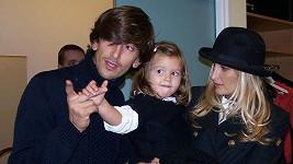 Tereza Maxová s partnerem a dcerou.