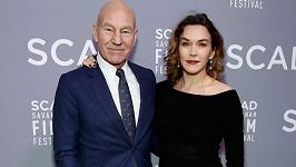 Patrick Stewart s manželkou Sunny Ozell na filmovém festivalu v Savannah