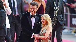 Kylie Minogue s partnerem Paulem Solomonsem.