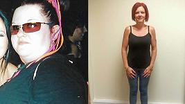 Gemma Glover (36) z Hampshire ve Velké Británii. 80 kilo má pryč.