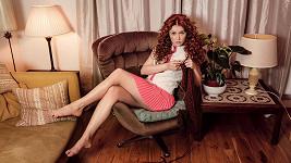Marie Doležalová v roli modelky