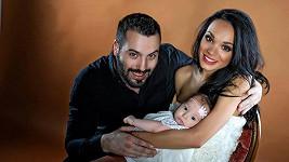 Noid s dcerou a manželkou Gábinou