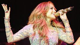 Jennifer Lopez při vystoupení v Los Angeles.