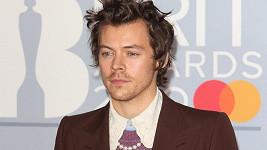 Harry Styles přišel na Brit Awards s černou stužkou na saku