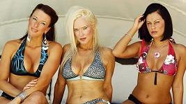 Zleva Lauren Nicole, Charlie Henrinquez a Caitlyn Le Grande.