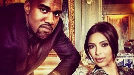 Kim s Kanyem v předsvatební den v Paříži.