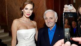Charles Aznavour navštívil Prahu letos v březnu.