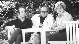 Jan Hammer ml. s rodiči Janem Hammerem st. a Vlastou Průchovou