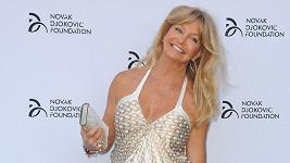 Goldie Hawn nikdy nezapomene široký úsměv doma.
