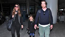 Christina Bale s manželkou a dcerou Emmeline
