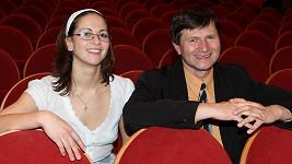 Kristýna Hrušínská s otcem a principálem v jednom Janem Hrušínským