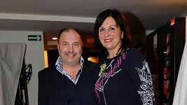 Na plastice byl Michal David i jeho manželka Marcela.