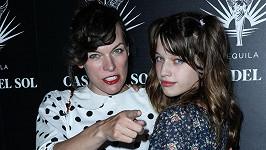 Mila Jovovich s dcerou Ever