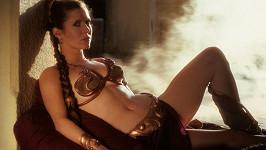 Carrie Fisher a slavná bikinová scéna ze Star Wars...