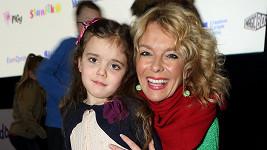 Lucie Benešová s dcerou