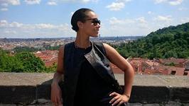 Alicia Keys v den svého pražského koncertu.
