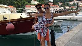 Kamila Nývltová s přítelem Tomášem Smičkou v Chorvatsku