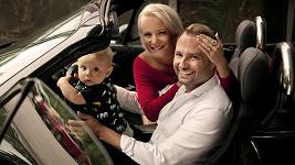 Marek Dědík s manželkou Terezou a synem Bertramem