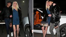 Podnikatel Ted Dhabnik a americká herečka Tara Reid (42). Hrdličky si vyrazily na romantickou večeři.