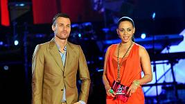 Tina a Leoš na pódiu.