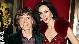 Mick Jagger se svou partnerkou a budoucí manželkou L'Wren Scott.