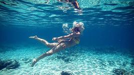 Patricie Solaříková plavala pod hladinou jako mořská panna.