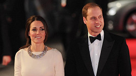 Kate a William na premiéře
