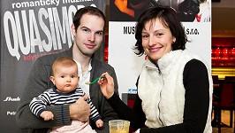 Jan Maxián s partnerkou Lucií a dcerou Rebekou.