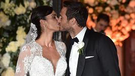 Novomanželé Frank Lampard a Christine Bleakley