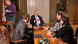 Prezident Miloš Zeman na archivním snímku Lubošee Xavera Veselého