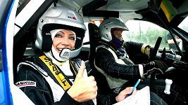 Olga Lounová na rallye.