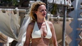 Heather Graham tráví dovolenou v Mexiku.