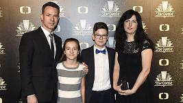 Martin Řezníček s rodinou