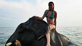Jízdu na slonovi Karolína barvitě popsala.