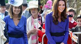 Catherine i její maminka Carol mají stejný vkus. Nosí dokonce stejné šaty.