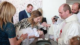 Markéta Martiníková nechala pokřtít svoji druhou dceru Albertu.