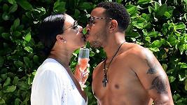 Herec a raper Ludacris s manželkou Eudoxií