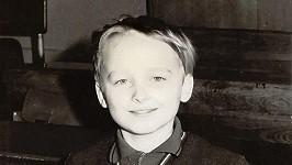 Karel Voříšek jako vzorný školák.