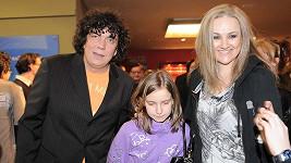 Richard Genzer s dcerou a manželkou Lindou Finkovou.